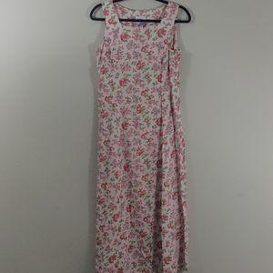 Liz Claiborne | Vintage Floral / Fruit Print Dress